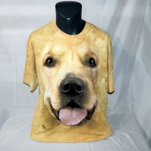 The Mountain Golden Retriever Dog FaceT Shirt XL